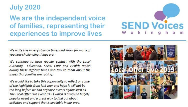 SEND Voices Wokingham 2020 Newsletter